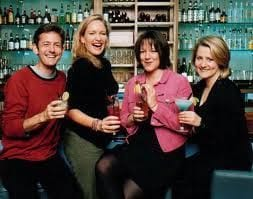 From left: Nick Earls, Imogen Edwards-Jones, Jessica Adams, Maggie Alderson