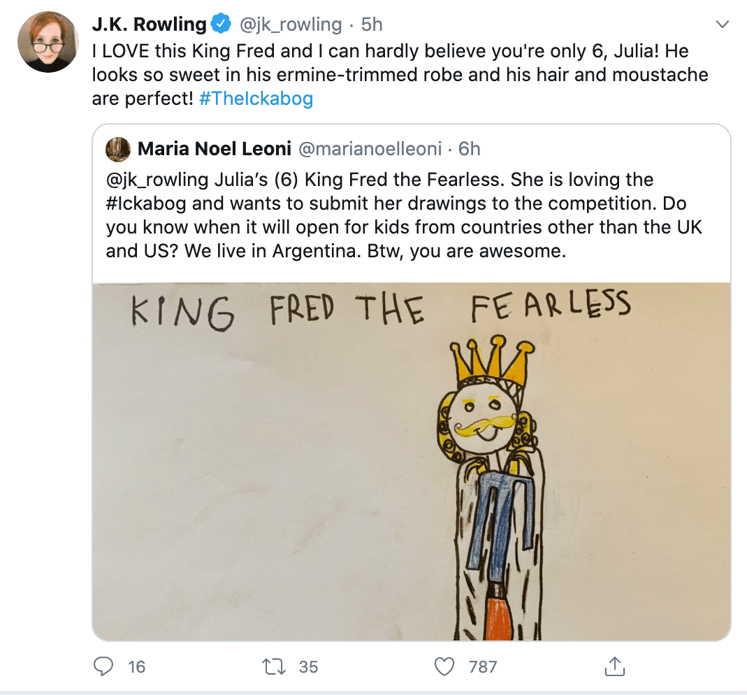 J.K. Rowling Publishes The Ickabog Free Online